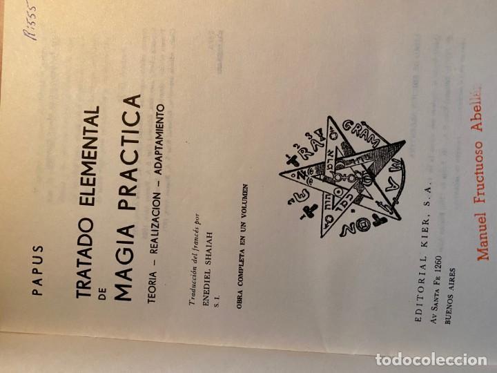 Libros de segunda mano: TRATADO ELEMENTAL DE MAGIA PRÁCTICA - Foto 2 - 188628453