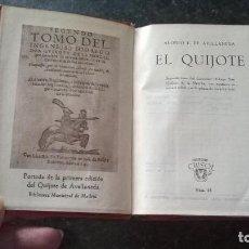 Libros de segunda mano: 28-EL QUIJOTE, DE ALONSO F. DE AVELLANEDA, CRISOL 28 . Lote 188695816