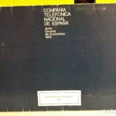 Libros de segunda mano: COMPAÑIA TELEFONICA NACIONAL DE ESPAÑA - TELEFONICA - JUNTA GENERAL DE ACCIONISTAS 1976. Lote 188735375