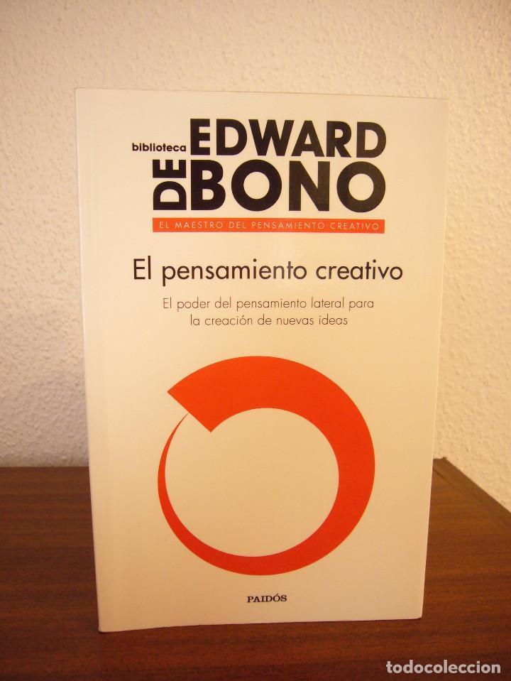 Libros de segunda mano: EDWARD DE BONO: EL PENSAMIENTO CREATIVO (PAIDÓS, 2016) COMO NUEVO - Foto 2 - 188813621