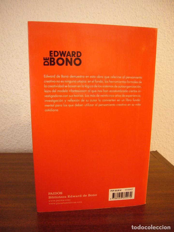 Libros de segunda mano: EDWARD DE BONO: EL PENSAMIENTO CREATIVO (PAIDÓS, 2016) COMO NUEVO - Foto 3 - 188813621