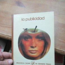 Livres d'occasion: LA PUBLICIDAD, BIBLIOTECA SALVAT. L.20442. Lote 189149953