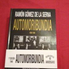 Libros de segunda mano: LITERATURA ESPAÑOLA CONTEMPORANEA. AUTOMORIBUNDIA. RAMON GOMEZ DE LA SERNA. Lote 189289742