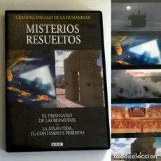 Libros de segunda mano: DVD DOCUMENTAL MISTERIOS RESUELTOS - LA ATLÁNTIDA - EL TRIÁNGULO DE LAS BERMUDAS - NO ES LIBRO. Lote 189586773