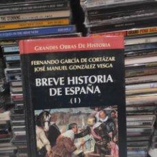 Libros de segunda mano: BREVE HISTORIA DE ESPAÑA 1 FERNANDO GARCÍA DE CORTÁZAR. Lote 189616807