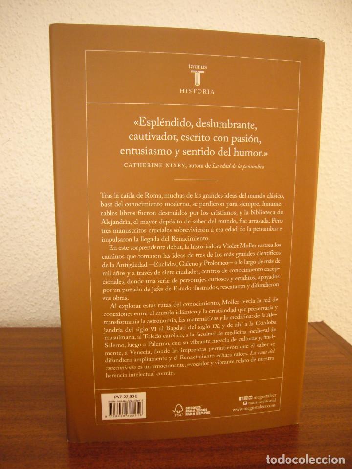 Libros de segunda mano: VIOLET MOLLER: LA RUTA DEL CONOCIMIENTO (TAURUS, 2019) TAPA DURA. COMO NUEVO. - Foto 3 - 189690180