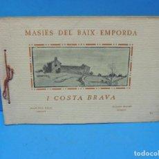 Libros de segunda mano: MASIES DEL BAIX-EMPORDÀ I COSTA BRAVA.- FRANCISCO VIDAL. Lote 189693060