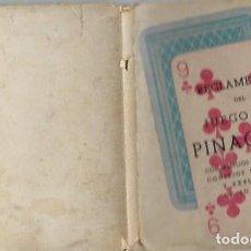 Libros de segunda mano: REGLAMENTO DEL JUEGO DEL PINACULO MADRID 1945. Lote 189736012