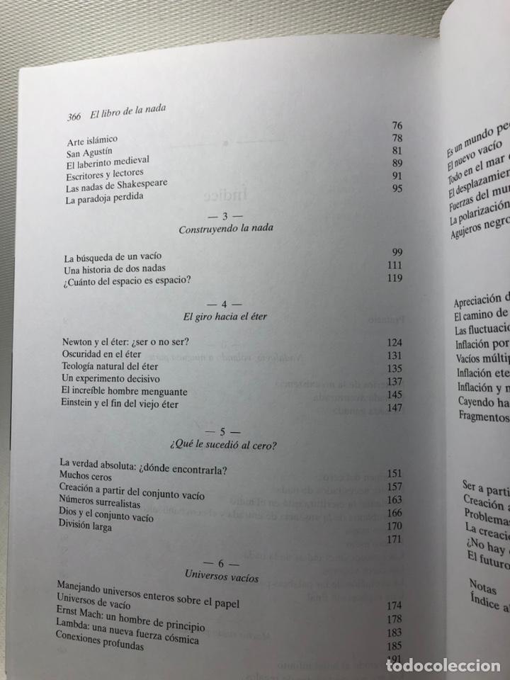 Libros de segunda mano: EL LIBRO DE LA NADA ···JOHN D. BARROW ·· Edit. CRITICA ··· DRAKONTOS - Foto 5 - 189761967