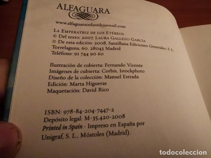 Libros de segunda mano: LA EMPERATRIZ DE LOS ETÉREOS LAURA GALLEGO GARCÍA ALFAGUARA 2008 - Foto 2 - 262965175