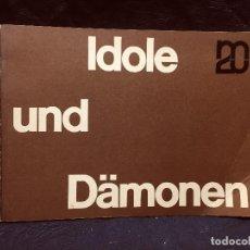 Libros de segunda mano: ÍDOLOS Y DEMONIOS IDOLE UND DÄMONEN CATÁLOGO 7 PAUL KLEE ESCULTURA PINTURA MAX BECKMANN 1963. Lote 189801983