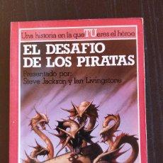Libros de segunda mano: **NUEVO, SIN USO** EL DESAFIO DE LOS PIRATAS N16_ COLECCION LUCHA FICCION ALTEA LIBROJUEGO. Lote 189934368