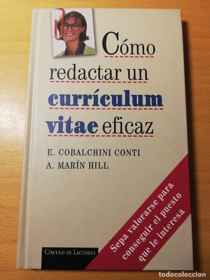 CÓMO REDACTAR UN CURRÍCULUM VITAE EFICAZ (E. COBALCHINI CONTI / A. MARÍN HILL) (Libros de Segunda Mano - Ciencias, Manuales y Oficios - Otros)