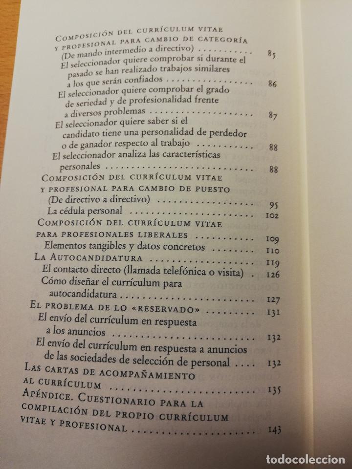 Libros de segunda mano: CÓMO REDACTAR UN CURRÍCULUM VITAE EFICAZ (E. COBALCHINI CONTI / A. MARÍN HILL) - Foto 4 - 189941707