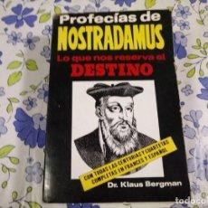 Libros de segunda mano: LIBRO DE PROFECIAS DE NOSTRADAMUS. Lote 189950113