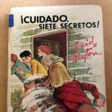 Libros de segunda mano: CUIDADO SIETE SECRETOS - ENID BLYTON - EDITORIAL JUVENTUD. Lote 189994740