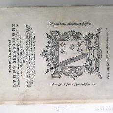 Libros de segunda mano: EMBLEMAS MORALES DE DON SEBASTIAN COVARRUBIAS OROZCO, CAPELLAN DEL REY N. S. MAESTSESCUELA, Y CANONI. Lote 190111067
