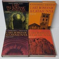 Libros de segunda mano: L'ART ROMÀNIC A CATALUNYA. SEGLES IX-X / XI- XII (4 VOLUMS) - E. CARBONELL I JORDI GUMÍ- EDICIONS 62. Lote 190148948