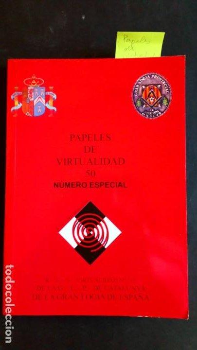 PAPELES DE VIRTUALIDAD 50 MASONERÍA (NÚMERO ESPECIAL) (Libros de Segunda Mano - Parapsicología y Esoterismo - Otros)