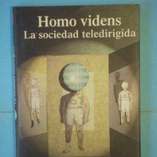 Libros de segunda mano: HOMO VIDENS (LA SOCIEDAD TELEDIRIGIDA) - GIOVANNI SARTORI - TAURUS EDICIONES, 1998 1ª ED (TAPA DURA). Lote 190274686