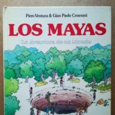 Libros de segunda mano: LOS MAYAS: LA AVENTURA DE UN MUNDO, POR PIERO VENTURA Y GIAN PAOLO CESERANI (MONTENA, 1982).. Lote 190413613