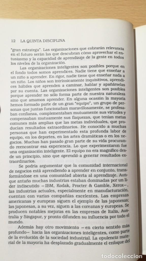 Libros de segunda mano: LA QUINTA DISCIPLINA - MANAGEMENT Y ORGANIZACIÓN - PETER M SENGE -GRANICA/ TXT54 - Foto 11 - 190480947