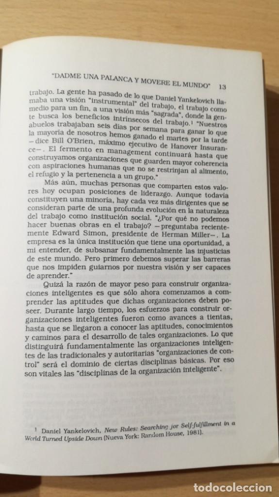 Libros de segunda mano: LA QUINTA DISCIPLINA - MANAGEMENT Y ORGANIZACIÓN - PETER M SENGE -GRANICA/ TXT54 - Foto 12 - 190480947