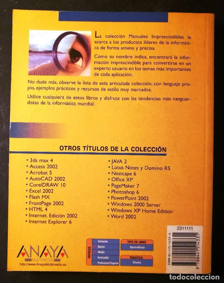 Libros de segunda mano: MANUAL IMPRESCINDIBLE PHOTOSHOP 7 (ANAYA) - Foto 2 - 190760328