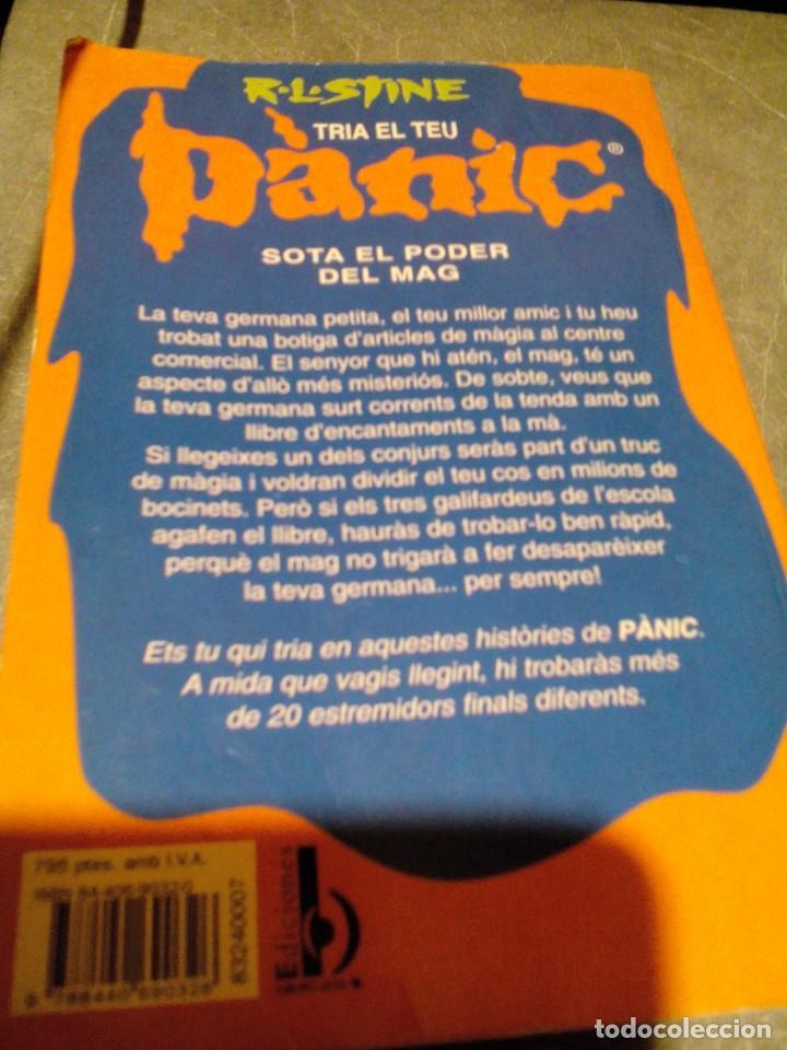 Libros de segunda mano: ref Y_libro /catalan/SOTA EL PODER DEL MAG/R,L,STINE/PANIC/mide 19x13cm,tiene 135paginas - Foto 2 - 190853738