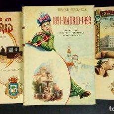 Libros de segunda mano: LA VIDA EN MADRID - 1891 MADRID 1892 - EL DUENDE CRITICO DE MADRID (EJEMPLARES NUMERADOS). Lote 190854032