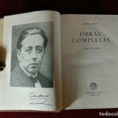 Livres d'occasion: OBRAS COMPLETAS DE GABRIEL MIRÓ (CUARTA EDICION) 1961 BIBLIOTECA NUEVA. Lote 190903322