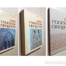 Libros de segunda mano: ARTE MUDEJAR ARAGONES 2 TOMOS + PLANOS COMPLETA-GONZALO M BORRÁS-VER FOTOS. Lote 191025443