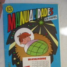 Libros de segunda mano: MANUALIDADES EN PAPEL - Nº 13 - CALENDARIO MENSUAL - SALVATELLA. . Lote 191211798
