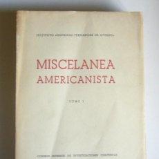 Libros de segunda mano: MISCELANEA AMERICANISTA - TOMO I. HOMENAJE A D. ANTONIO BALLESTEROS BERETTA - VARIOS AUTORES. Lote 191226657