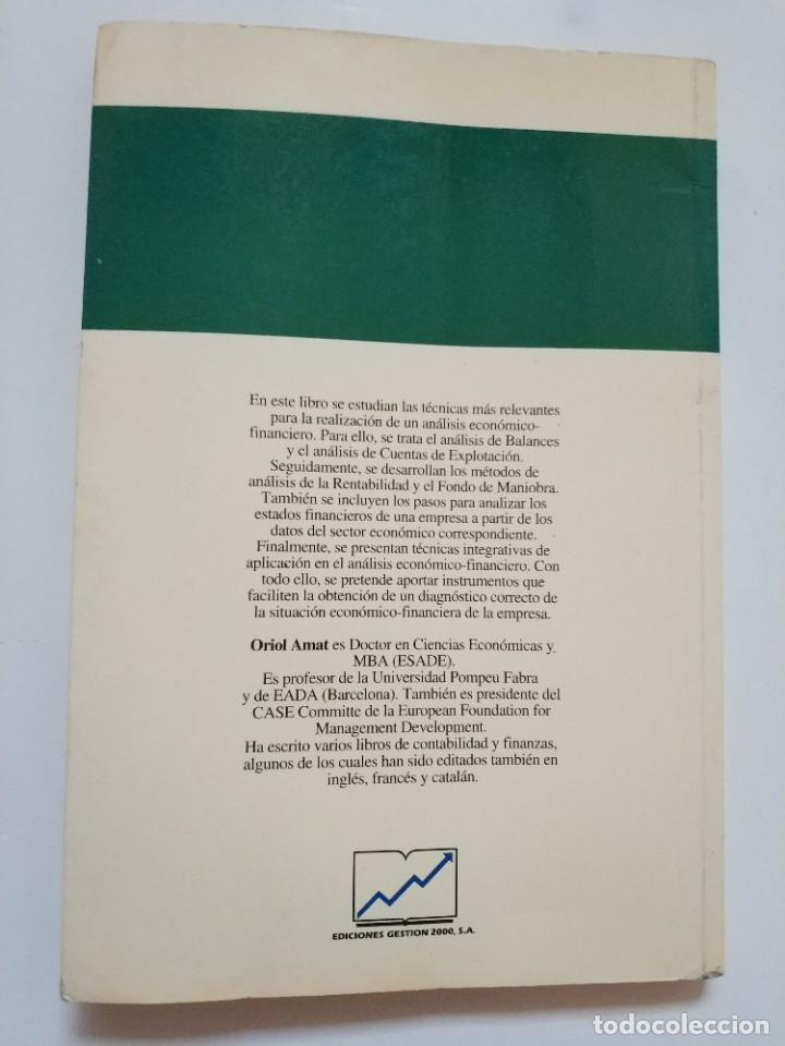 Libros de segunda mano: ANALISIS DE BALANCES.- ORIOL AMAT - Foto 4 - 191267313