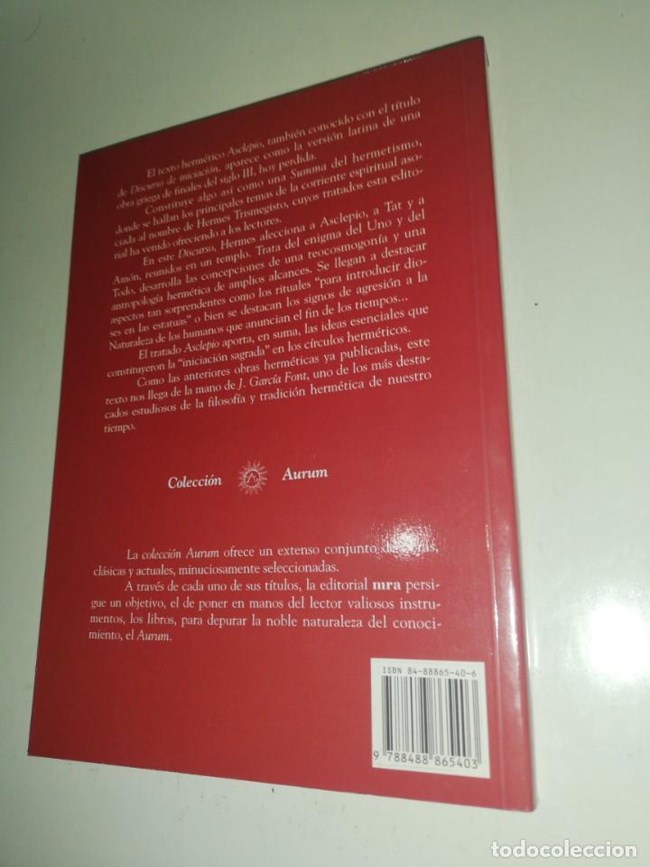 Libros de segunda mano: Hermes trimegisto, asclepio, discurso iniciatico - Foto 2 - 191320843