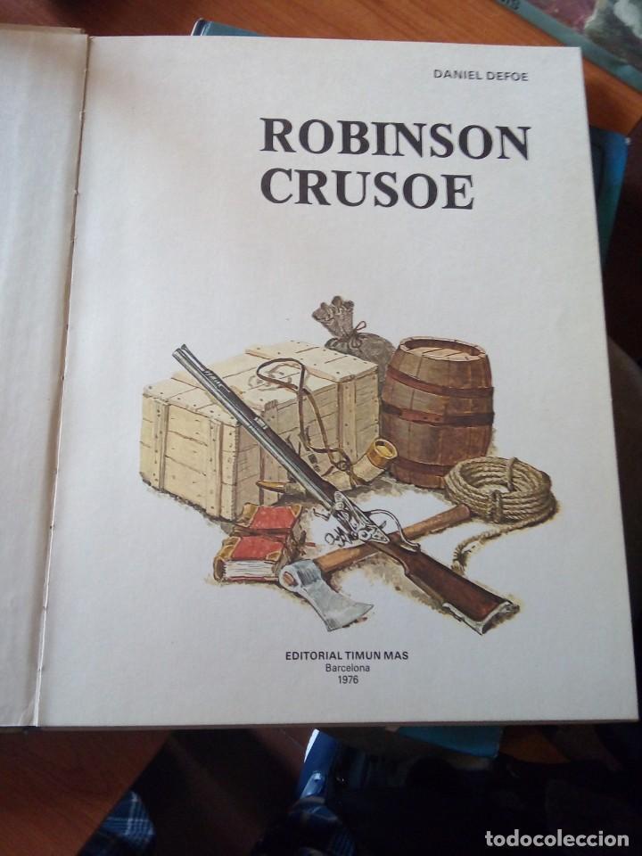 Libros de segunda mano: ROBINSON CRUSOE - RELATOS CLASICOS UNIVERSALES TIMUN MAS - Foto 2 - 191336320