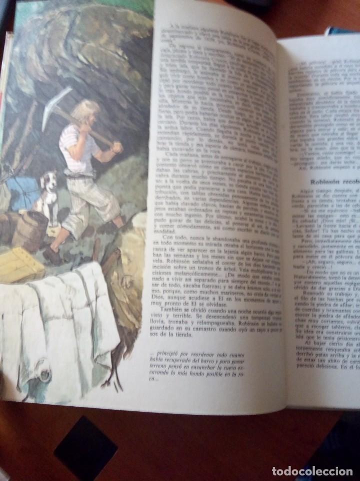 Libros de segunda mano: ROBINSON CRUSOE - RELATOS CLASICOS UNIVERSALES TIMUN MAS - Foto 3 - 191336320