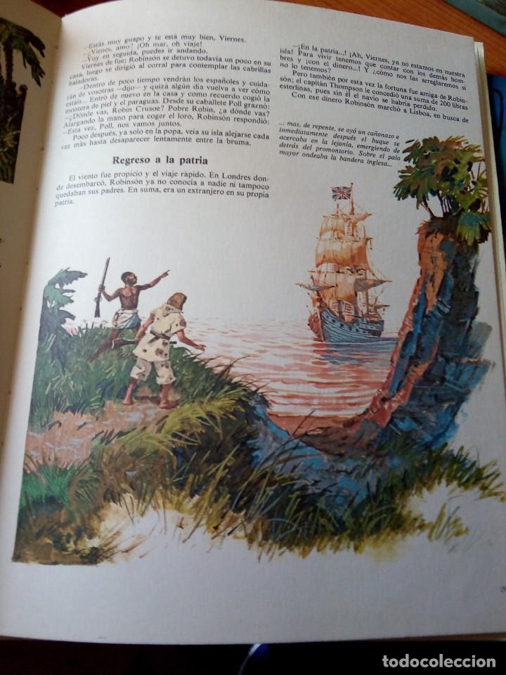 Libros de segunda mano: ROBINSON CRUSOE - RELATOS CLASICOS UNIVERSALES TIMUN MAS - Foto 5 - 191336320