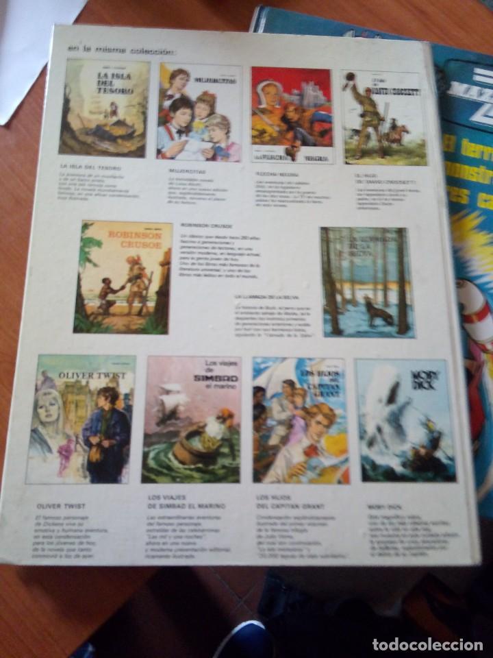 Libros de segunda mano: ROBINSON CRUSOE - RELATOS CLASICOS UNIVERSALES TIMUN MAS - Foto 6 - 191336320
