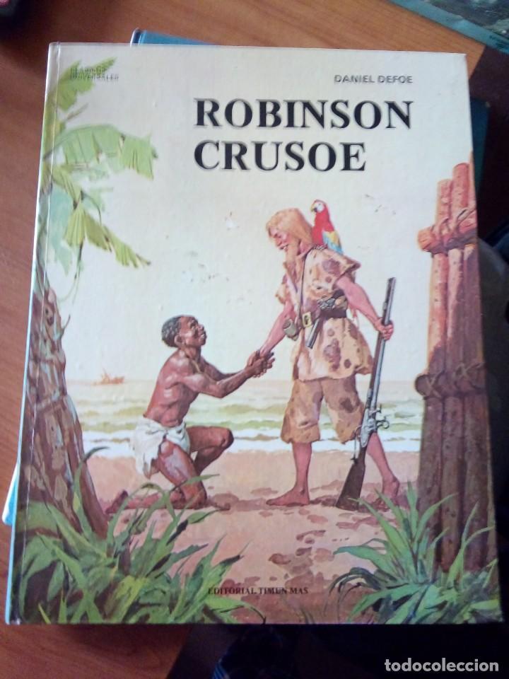 ROBINSON CRUSOE - RELATOS CLASICOS UNIVERSALES TIMUN MAS (Libros de Segunda Mano - Literatura Infantil y Juvenil - Otros)