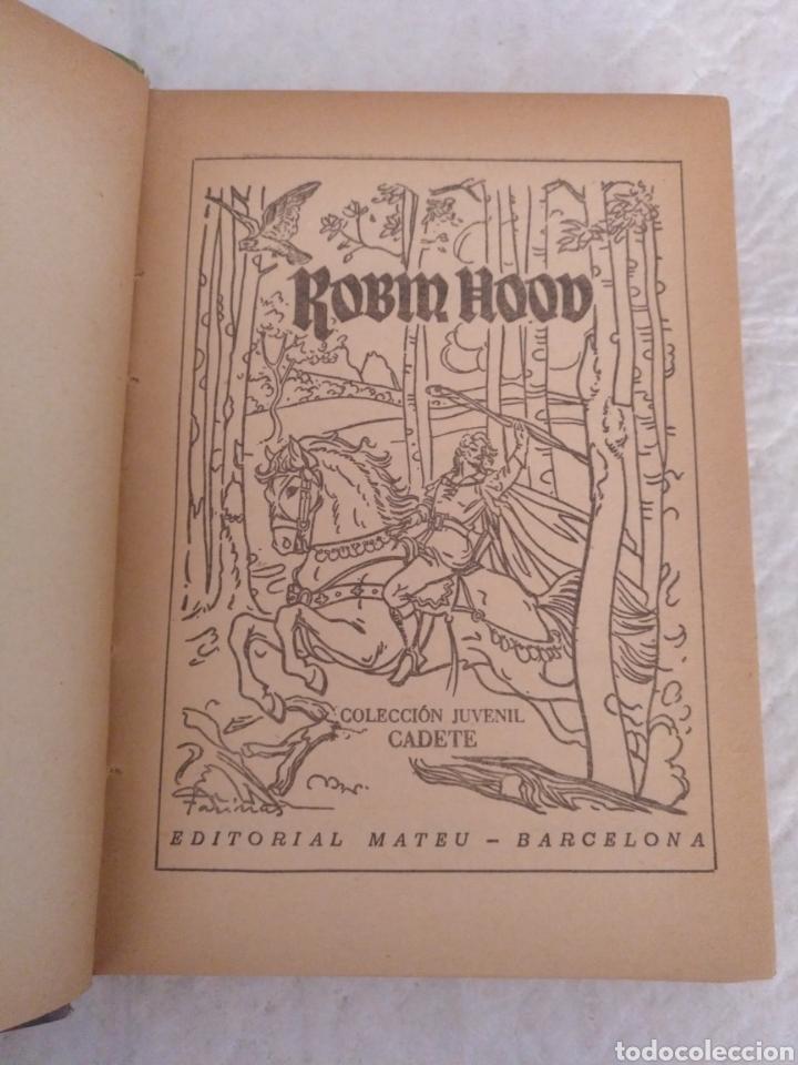 Libros de segunda mano: Robin Hood. Adaptación Manuel Rossell Pesant. Fariñas. Colección juvenil cadete 43. Libro - Foto 3 - 191470791