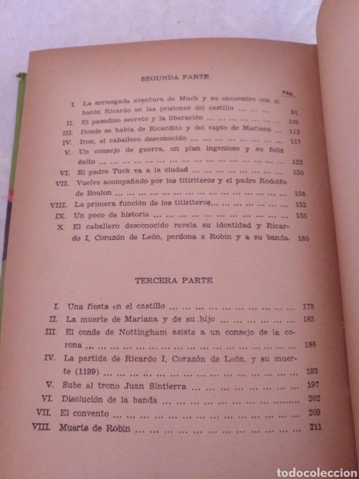 Libros de segunda mano: Robin Hood. Adaptación Manuel Rossell Pesant. Fariñas. Colección juvenil cadete 43. Libro - Foto 5 - 191470791