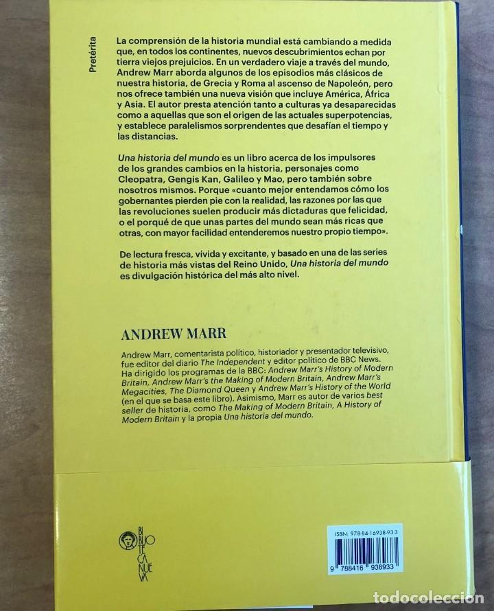 Libros de segunda mano: Una Historia del mundo. Andrew Marr. Editorial Biblioteca Nueva. Los grandes cambios en la historia. - Foto 3 - 191510780