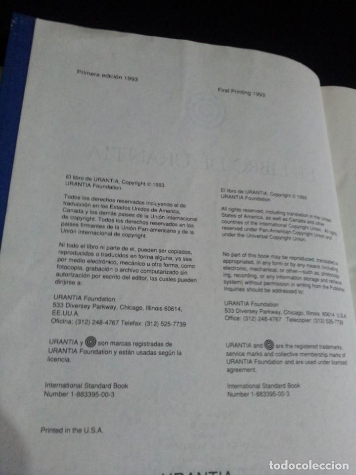 Libros de segunda mano: EL LIBRO DE URANTIA - URANTIA FOUNDATION - PRIMERA EDICION 1993, PRINTED IN THE USA - Foto 5 - 191556035