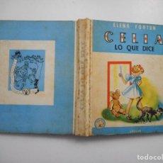 Libros de segunda mano: ELENA FORTUN CELIA LO QUE DICE Y98059. Lote 191569420