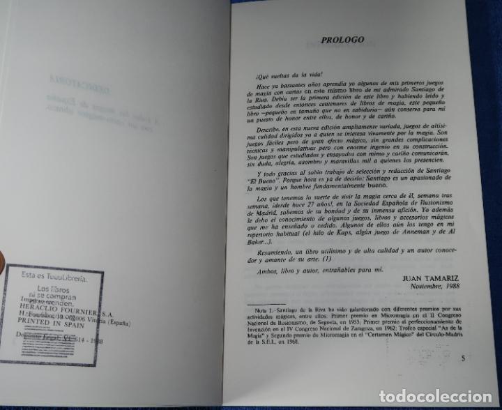 Libros de segunda mano: Nuevos juegos de Magia con Naipes - Santiago De La Riva Domínguez - Fournier (1988) - Foto 2 - 191749968