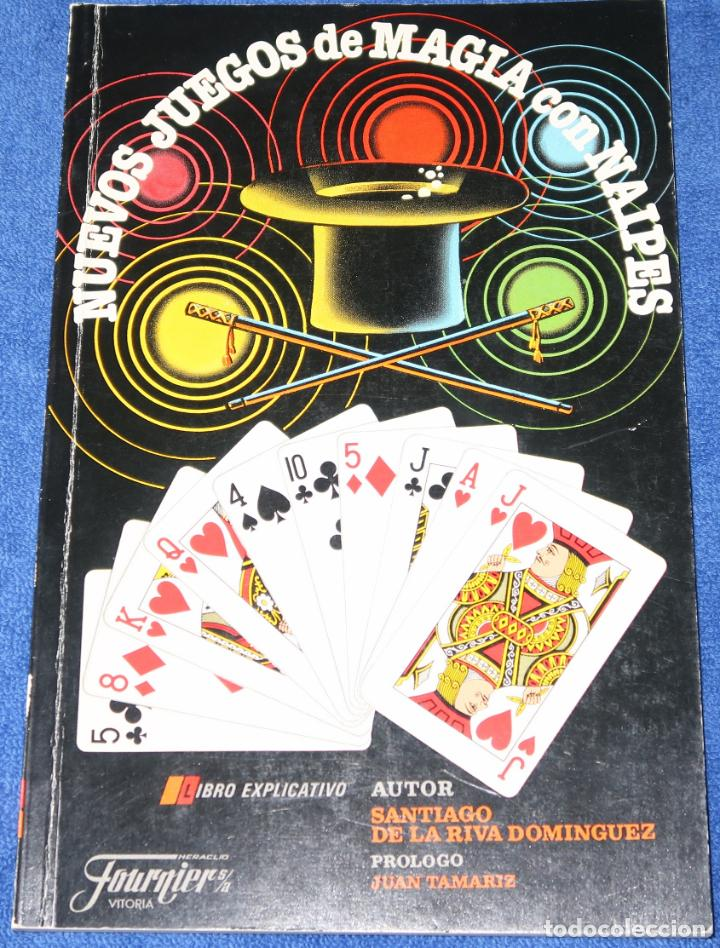 NUEVOS JUEGOS DE MAGIA CON NAIPES - SANTIAGO DE LA RIVA DOMÍNGUEZ - FOURNIER (1988) (Libros de Segunda Mano - Ciencias, Manuales y Oficios - Otros)