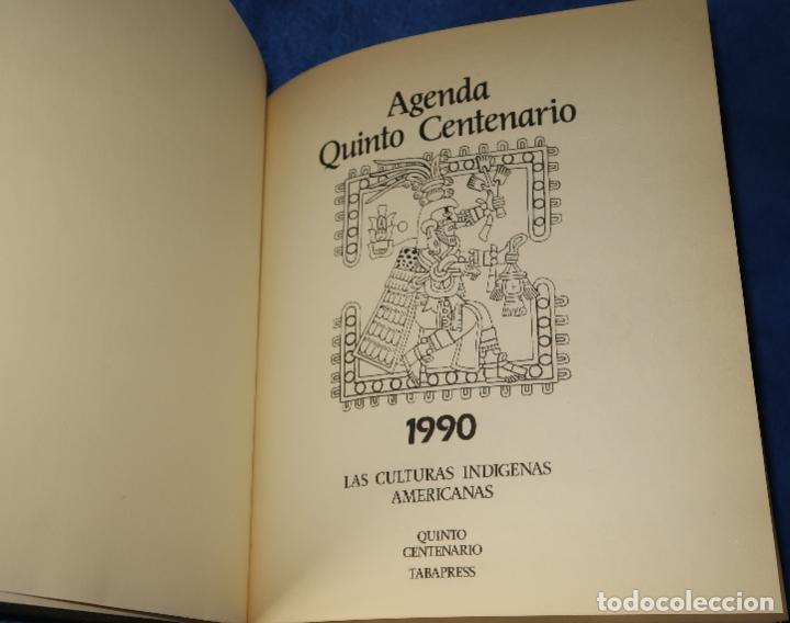 Libros de segunda mano: Agenda - Quinto Centenario - 1990 / 1991 - Culturas Pre-Colombinas - Foto 4 - 191750482