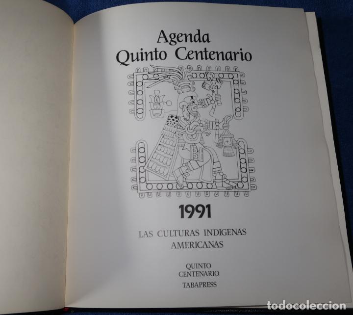 Libros de segunda mano: Agenda - Quinto Centenario - 1990 / 1991 - Culturas Pre-Colombinas - Foto 14 - 191750482